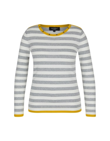 Produktbild zu Pullover mit dekorativen Ösen am Ausschnitt von Bexleys woman