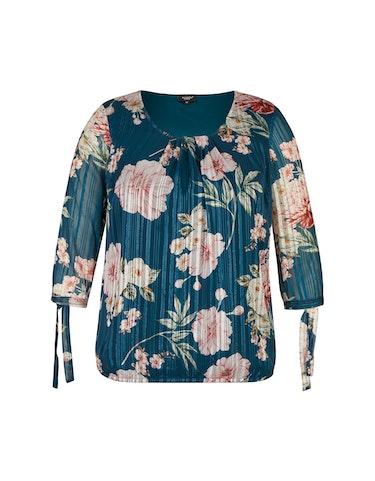 Produktbild zu Chiffonbluse mit Streifen und Blumen von Bexleys woman