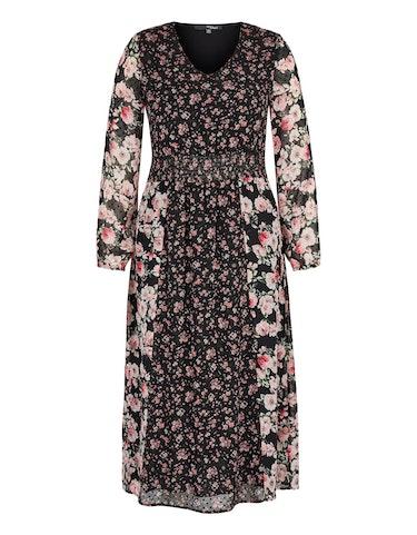 Produktbild zu Chiffon-Kleid mit Rosendruck von MY OWN