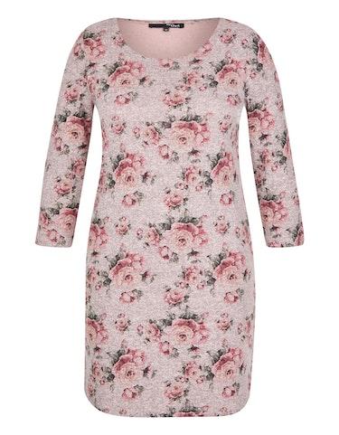 Produktbild zu Jersey-Kleid mit Rosendruck von MY OWN