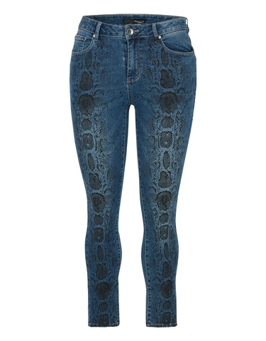Produktbild zu Denim-Jeans-Hose mit Schlangen-Print von MY OWN