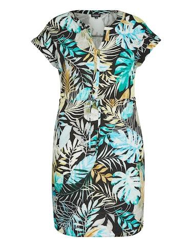 Produktbild zu <strong>Kleid mit exotischem Muster</strong>reine Baumwolle von Viventy