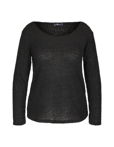Produktbild zu Unifarbener Chenille-Pullover von Via Cortesa