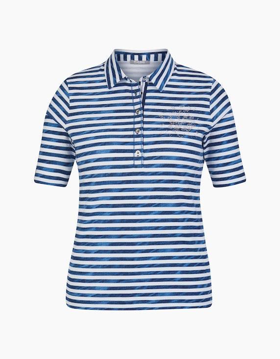 Rabe Shirt mit Streifen und Polo-Kragen   ADLER Mode Onlineshop