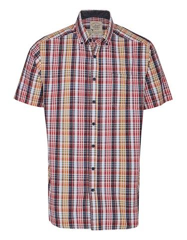 Produktbild zu Seersucker-Hemd mit Button Down-Kragen von Eagle Denim