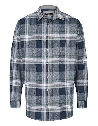 Produktbild zu <strong>Kariertes Flanellhemd mit chambray Details</strong>REGULAR FIT von Bexleys man