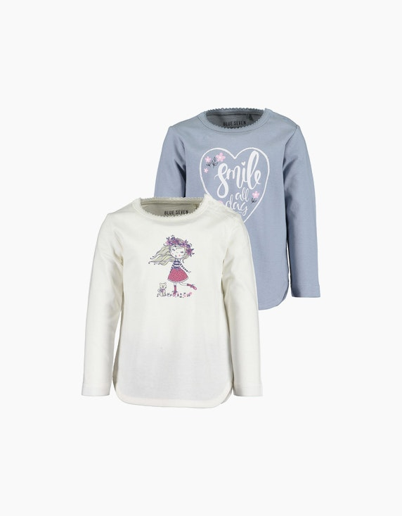 Blue Seven Baby Girls Langarmshirt im 2er-Pack | ADLER Mode Onlineshop