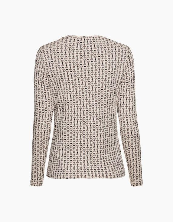 Olsen Langarmshirt mit Karos und Blumenprint   ADLER Mode Onlineshop