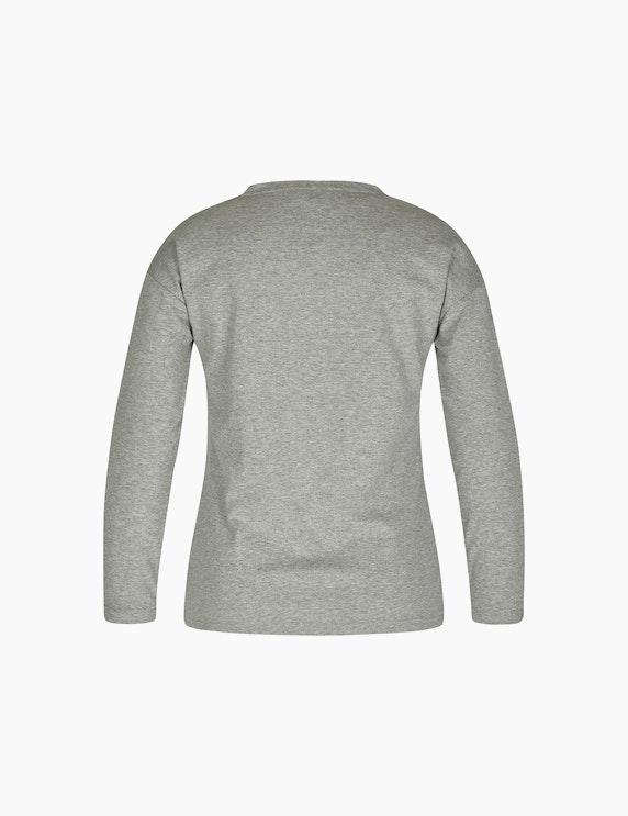 Bexleys woman Sweatshirt mit Frontprint und Galonstreifen | ADLER Mode Onlineshop