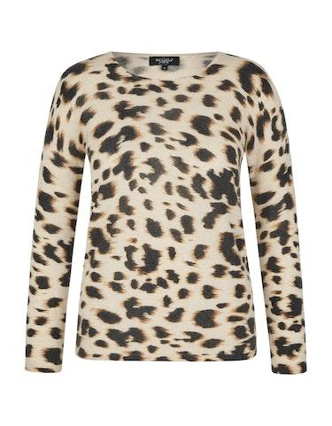 Produktbild zu Cashmere-Pullover im modischen Leoprint von Bexleys woman