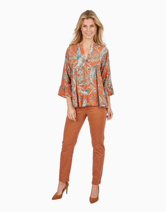 Made in Italy Volant-Bluse mit Paisley-Muster | ADLER Mode Onlineshop