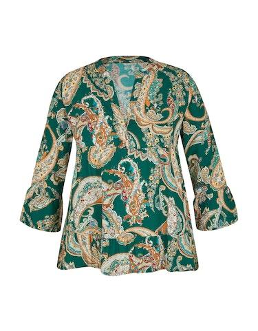 Produktbild zu Volant-Bluse mit Paisley-Muster von Made in Italy