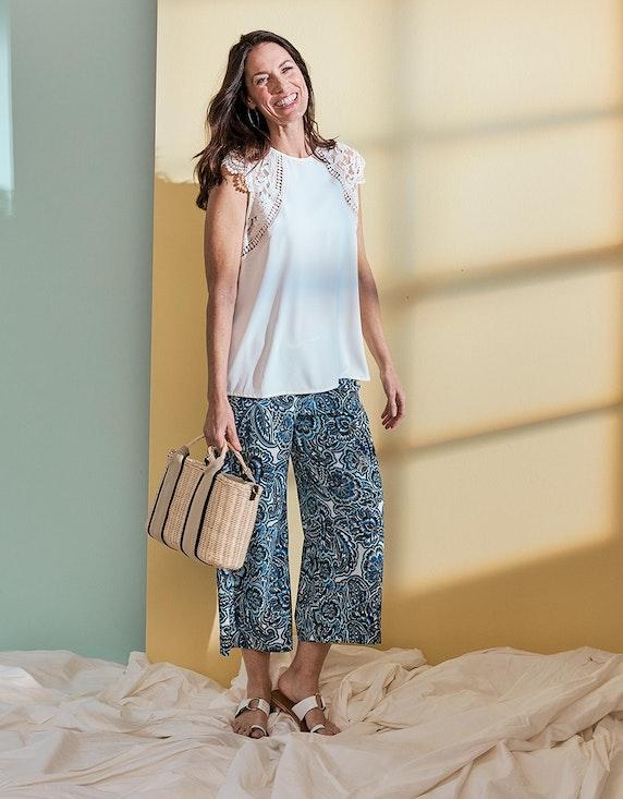 Bexleys woman Bluse mit Spitzendetails in Weiß | ADLER Mode Onlineshop
