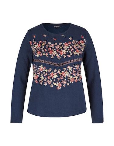 Produktbild zu Sweatshirt mit platziertem floralem Druck von Via Cortesa