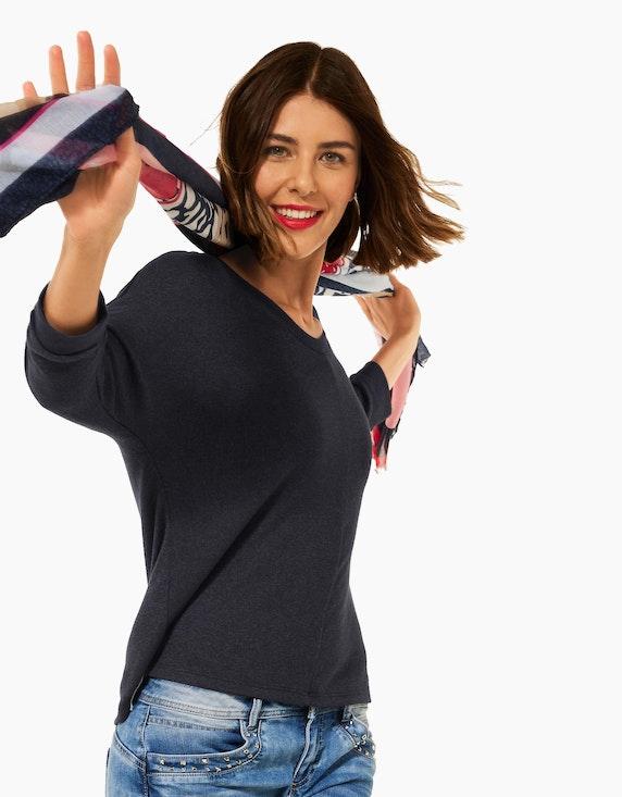 Street One Basic Shirt mit Raffung | ADLER Mode Onlineshop