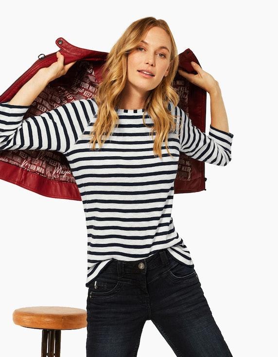 CECIL Streifen-Shirt im Basic-Style, reine Baumwolle | ADLER Mode Onlineshop