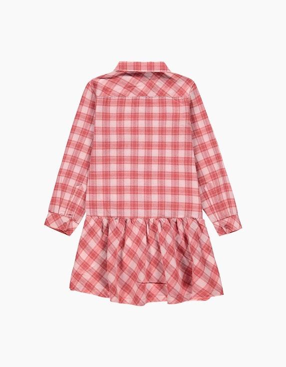Esprit Mini Girls Hemdblusenkleid mit Karomuster und Volant-Saum | ADLER Mode Onlineshop