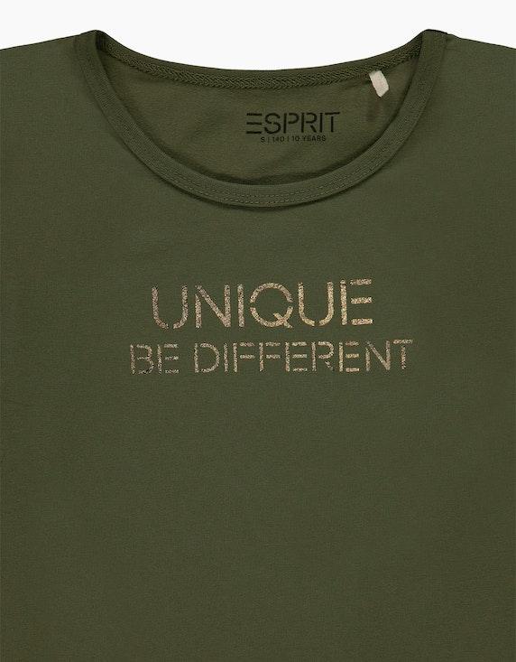 Esprit Girls Langarmshirt mit Metallic-Print | ADLER Mode Onlineshop
