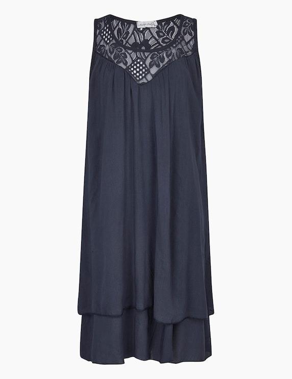 Made in Italy Sommerkleid im Lagen-Look in Marine   ADLER Mode Onlineshop