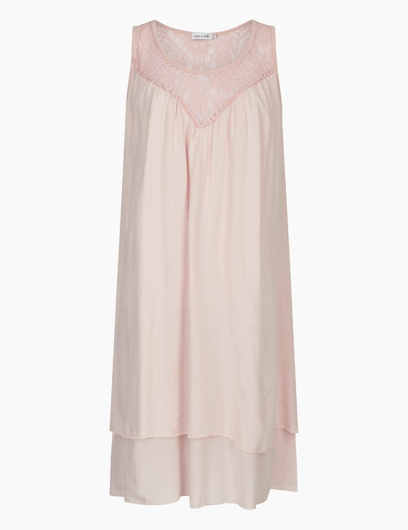 Made in Italy Sommerkleid im Lagen-Look in Rosa   ADLER Mode Onlineshop