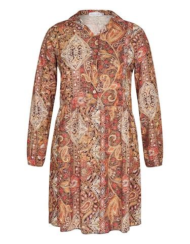 Produktbild zu Viskose-Kleid mit Kragen und halblanger Knopfleiste von Made in Italy