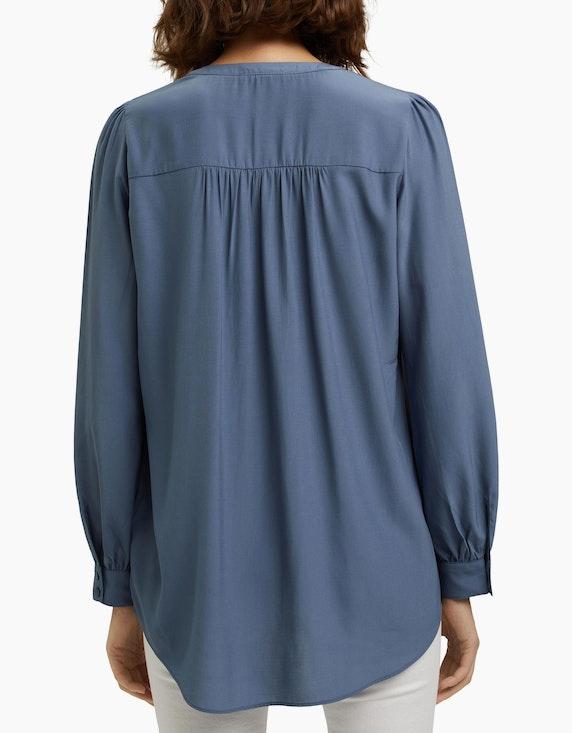 Esprit Long-Bluse, matt schimmernder Webstoff   ADLER Mode Onlineshop