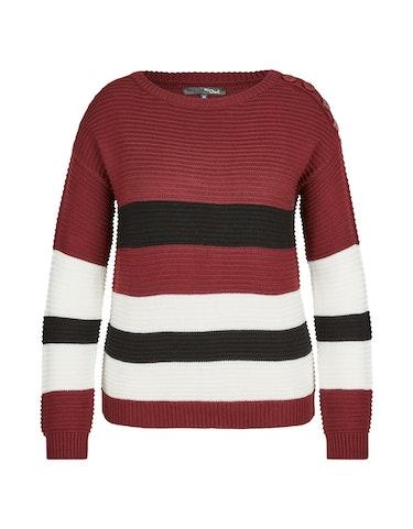 Produktbild zu Strick-Pullover mit breiten Streifen von MY OWN