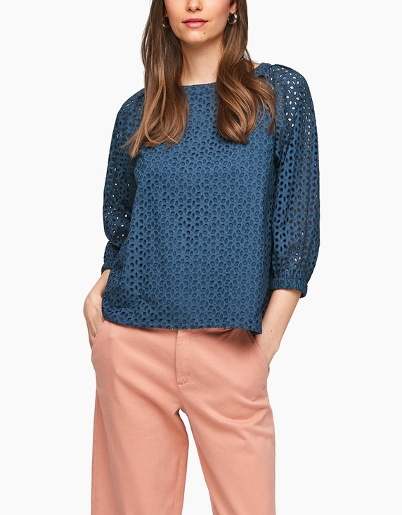 s.Oliver Spitzen-Bluse aus reiner Baumwolle | ADLER Mode Onlineshop