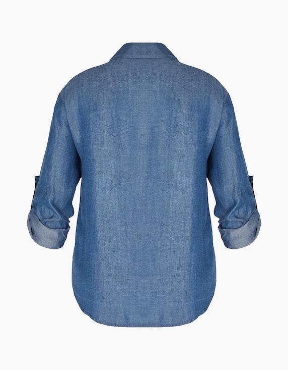 Made in Italy Tencel Hemdbluse in Denim-Optik | ADLER Mode Onlineshop