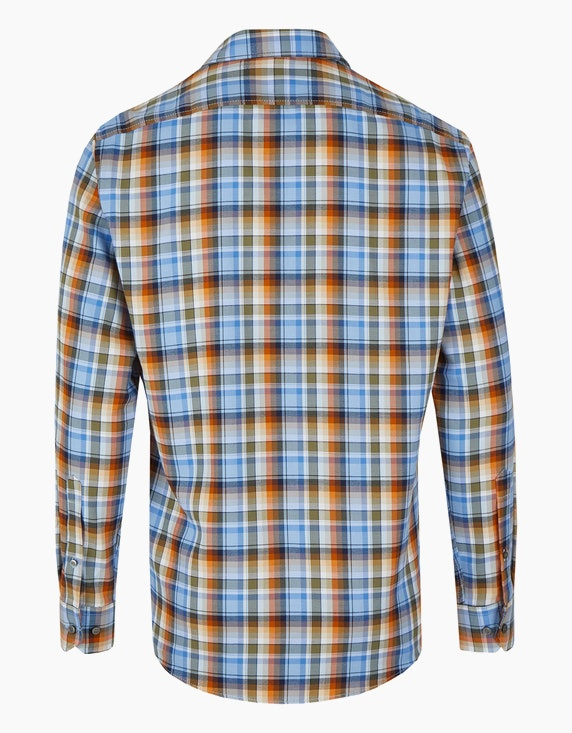 Marvelis Freizeithemd im herbstlichen Karo-Dessin, MODERN FIT | ADLER Mode Onlineshop