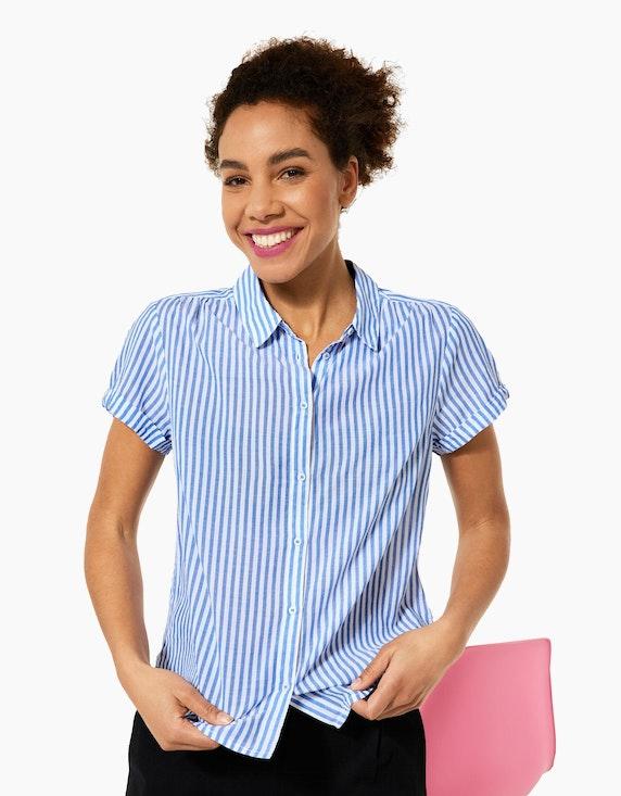 Street One Hemdbluse im Streifen-Look, reine Baumwolle   ADLER Mode Onlineshop