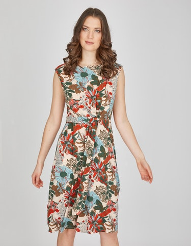 Produktbild zu Jersey-Kleid mit floralem Druck von Viventy