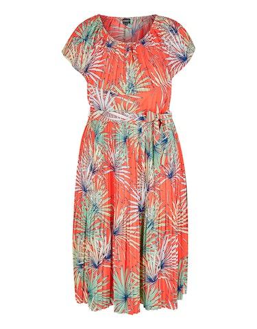 Produktbild zu Plissee-Kleid mit exotischem Allover-Druck von Viventy