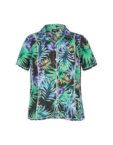 Produktbild zu Crinkle-Bluse mit Dschungel-Druck von Bexleys woman