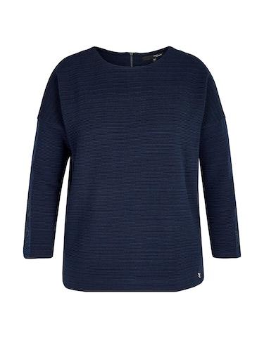 Produktbild zu Struktur-Sweatshirt mit Reißverschluss von MY OWN