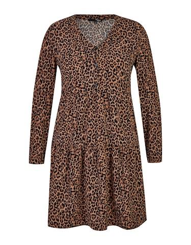 Produktbild zu Volant-Kleid mit Leo-Print von MY OWN