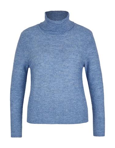 Produktbild zu Rollkragen-Pullover in Ripp-Strickstruktur von MY OWN