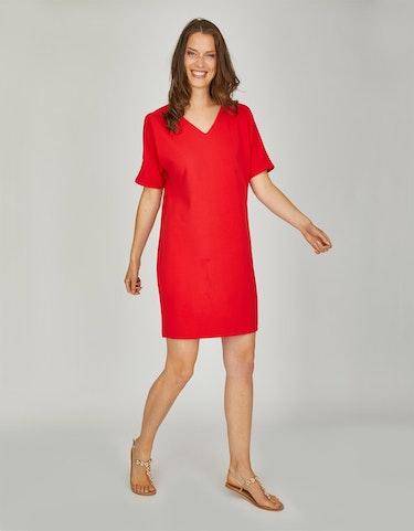 Produktbild zu Polyester-Crepe-Kleid mit Schulterschlitz von Viventy