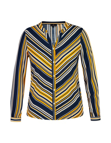 Produktbild zu <strong>Bluse im Streifen-Look</strong>reine Viskose von Via Cortesa