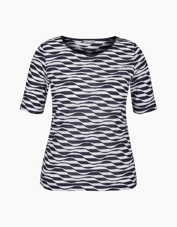 Rabe Shirt mit Ringelmuster und Wellenstruktur   ADLER Mode Onlineshop
