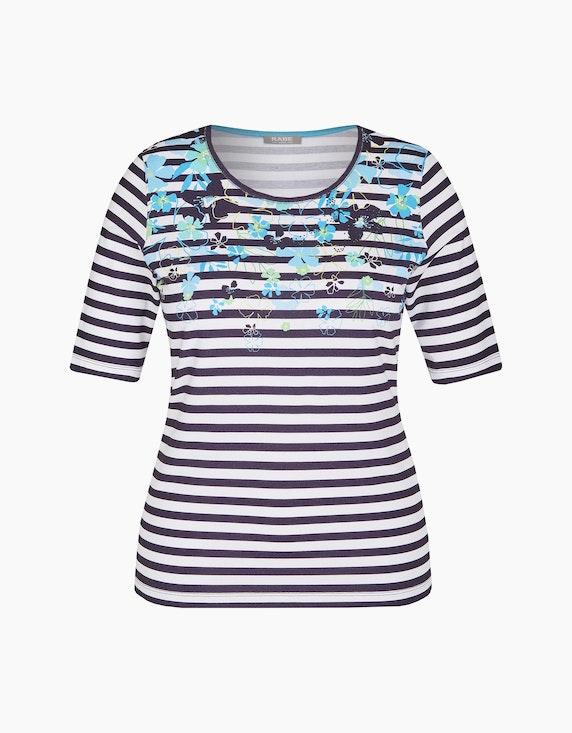 Rabe Shirt mit Streifenmuster und Strassbesatz | ADLER Mode Onlineshop