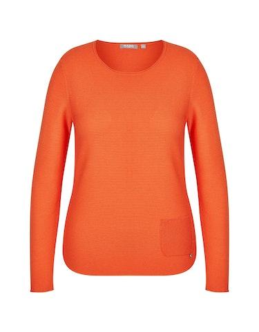 Produktbild zu Pullover mit Ziertasche von Rabe