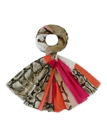 Produktbild zu Schal im Streifendessin mit Schlangeneinsätzen von Adler Collection