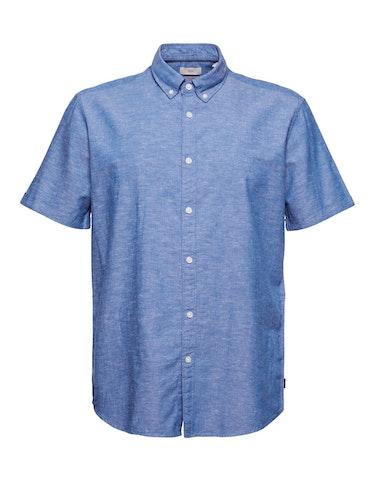 Produktbild zu Kurzarm-Hemd aus Leinen und Organic Cotton von Esprit EDC