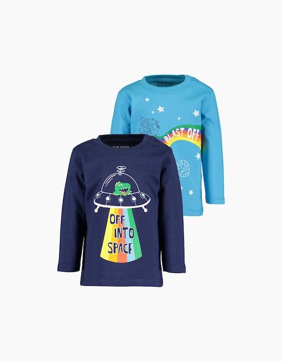 Blue Seven Baby Boys Langarmshirt im 2er-Pack   ADLER Mode Onlineshop