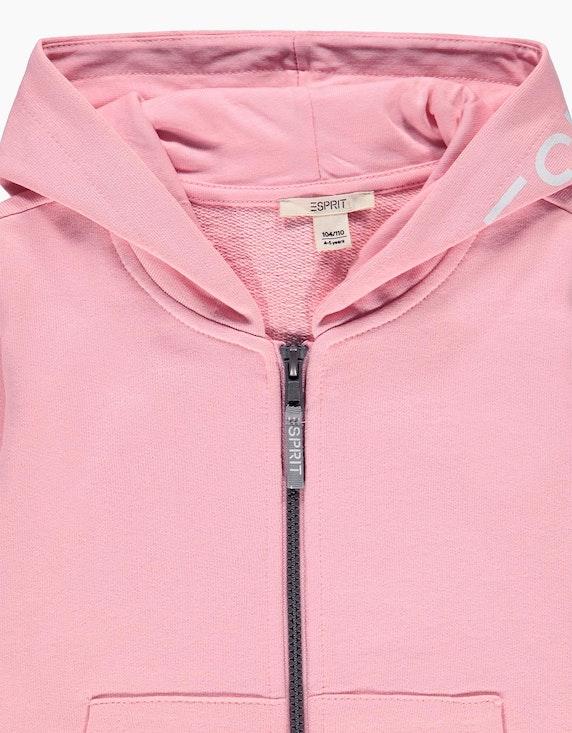 Esprit Mini Girls Sweatjacke mit Kapuze und Logo-Print | ADLER Mode Onlineshop