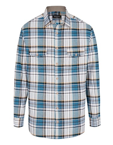 Produktbild zu <strong>Flanellhemd kariert mit zwei Patten-Brusttaschen</strong>REGULAR FIT von Bexleys man