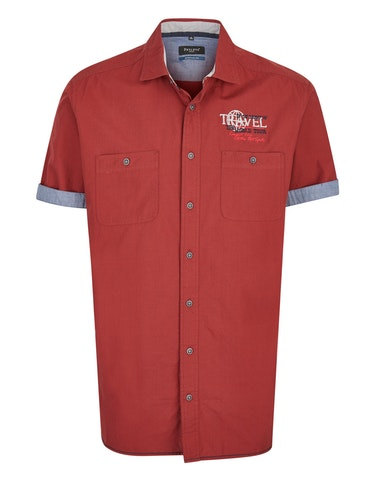 Produktbild zu <strong>Freizeithemd mit feinem Streifen und Stickerei</strong>REGULAR FIT von Bexleys man