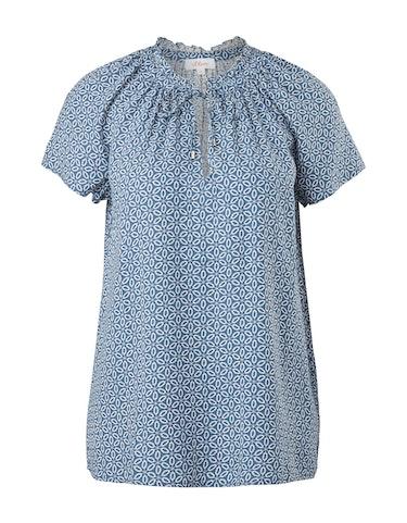 Produktbild zu Tunika-Bluse mit Allover-Muster und Rüschen von s.Oliver