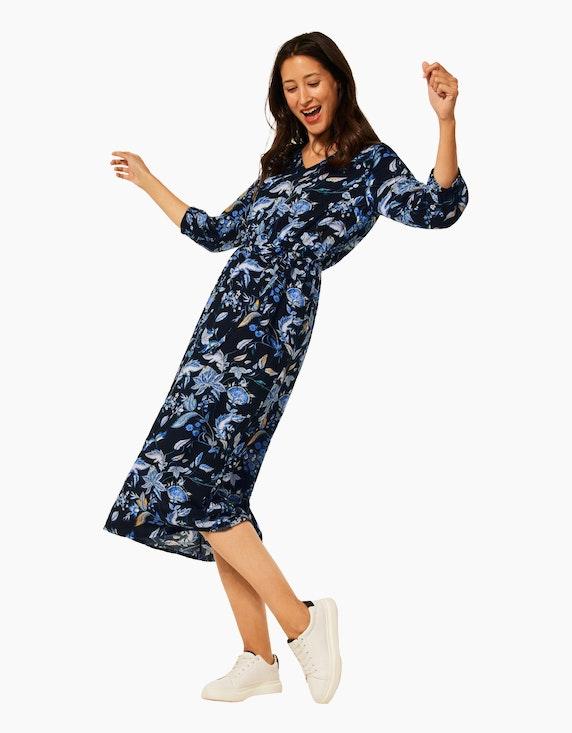 Street One Midi-Kleid mit floralem Muster | ADLER Mode Onlineshop